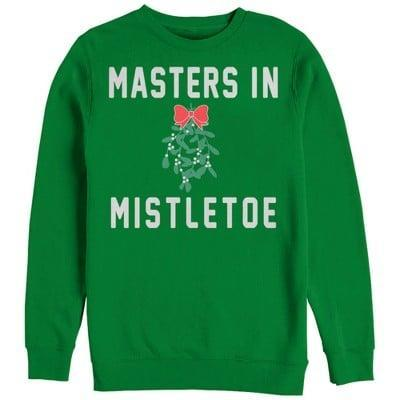 <p>We suggest getting one <span>Christmas Mistletoe Master Sweatshirt</span> ($42, originally $60) for you, and another for your significant other.</p>