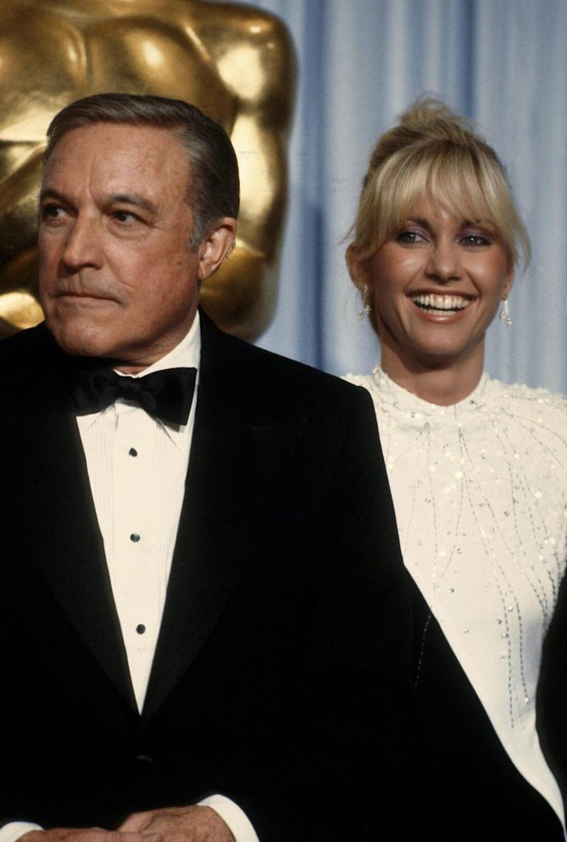 Gene Kelly starred alongside Olivia and Matt in the 1980 film Xanadu. The Hollywood icon is pictured here with Olivia at the 1980 Academy Awards. Source: Getty