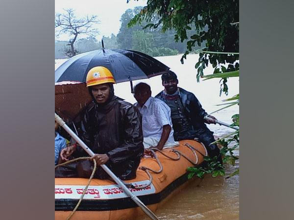 Rescue operation being carried out near Perampalli (Photo/ANI)