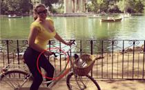 <p>Oops, here's Kelly again, having a lovely bicycle ride in the Rome sunshine. They really should do something about those wonky railings, shouldn't they? </p>