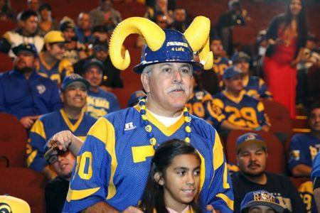 Los Angeles Rams fans attend a celebration to welcome NFL team, the Los Angeles Rams, at the Forum in Inglewood, Los Angeles, California, United States, January 15, 2016. REUTERS/Lucy Nicholson Picture Supplied by Action Images