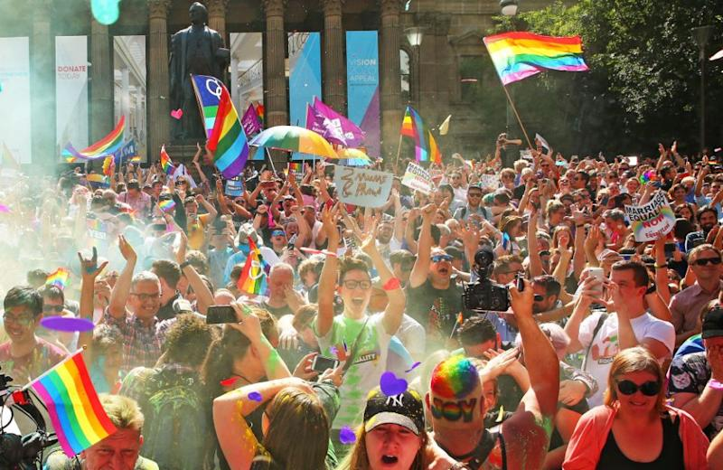 Over 12.7 million people voted in the survey, with 61.6 per cent of the Australian public ticking Yes, endorsing same-sex marriage. Photo: Getty Images