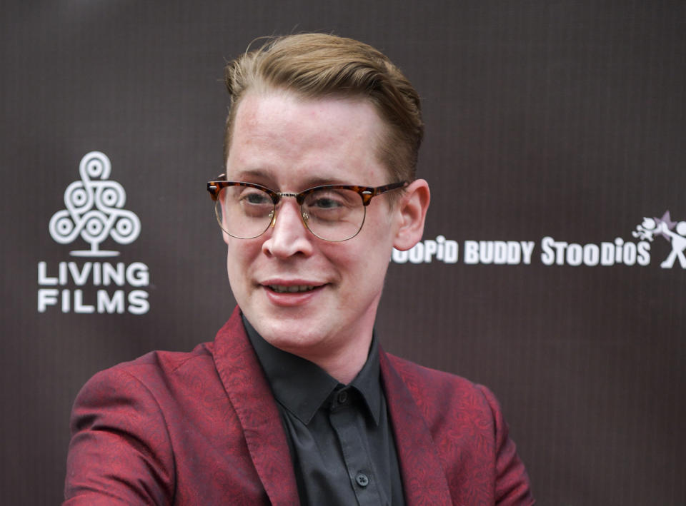 """HOLLYWOOD, CALIFORNIA - JUNE 03: Macaulay Culkin attends the LA Premiere of Gravitas Ventures' """"Changeland"""" at ArcLight Hollywood on June 03, 2019 in Hollywood, California. (Photo by Rodin Eckenroth/Getty Images)"""