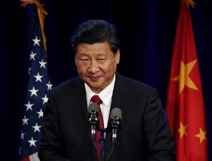 Chinese President Xi Jinping speaks during his welcoming banquet at the start of his visit to the United States (AFP Photo/Mark Ralston)