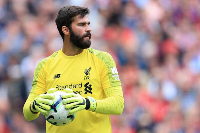 Alisson enjoyed a quiet Liverpool debut after his summer move from Roma