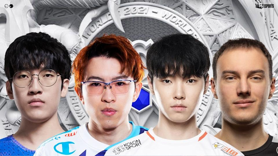 From left to right: LNG Esports' Lee