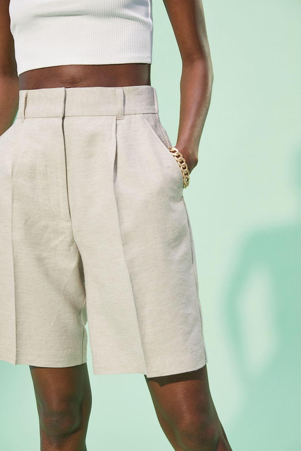 <p>These <span>Linen-blend Bermuda Shorts</span> ($30) are ideal for warm days because of the lightweight and breathable fabric.</p>