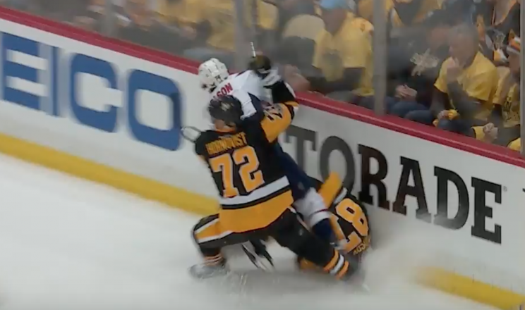 Concussion spotter couldn't pull Sidney Crosby for hitting boards