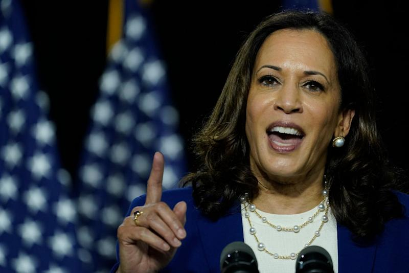 Kamala Harris is the first Black woman and the first person of Indian descent to be a presumptive nominee on a presidential ticket. Source: Getty