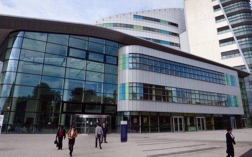 "A general view of the Queen Elizabeth Hospital in Birmingham. A 14-year-old Pakistani girl who was shot in the head by the Taliban could make a ""good recovery"", doctors treating her in the hospital said"