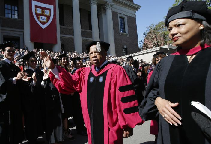 Rep. John Lewis walks in a precession during Harvard University commencement exercises on May 24, 2018, in Cambridge, Mass. (Photo: Michael Dwyer/AP)