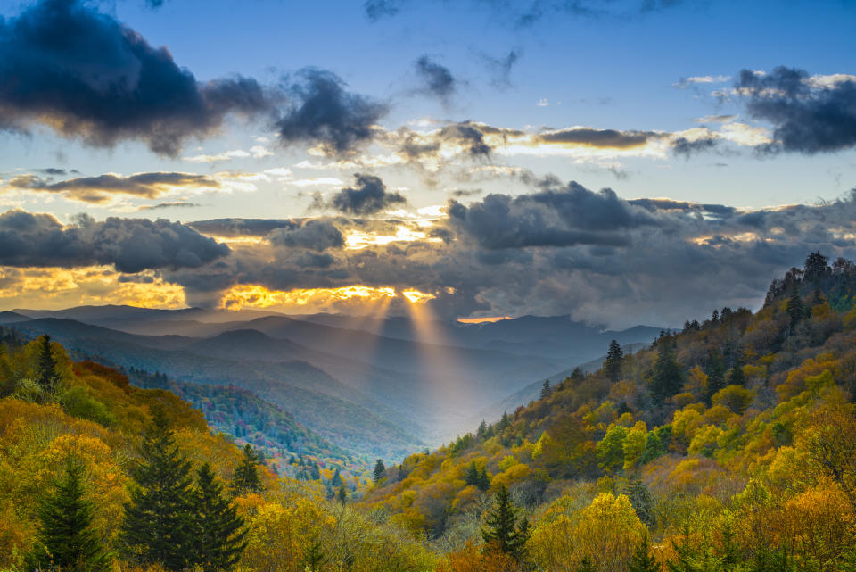 Check out the view at the Smoky Mountains National Park.(Getty Images)