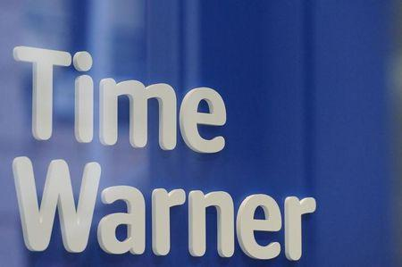 A Time Warner logo is seen at a Time Warner store in New York City