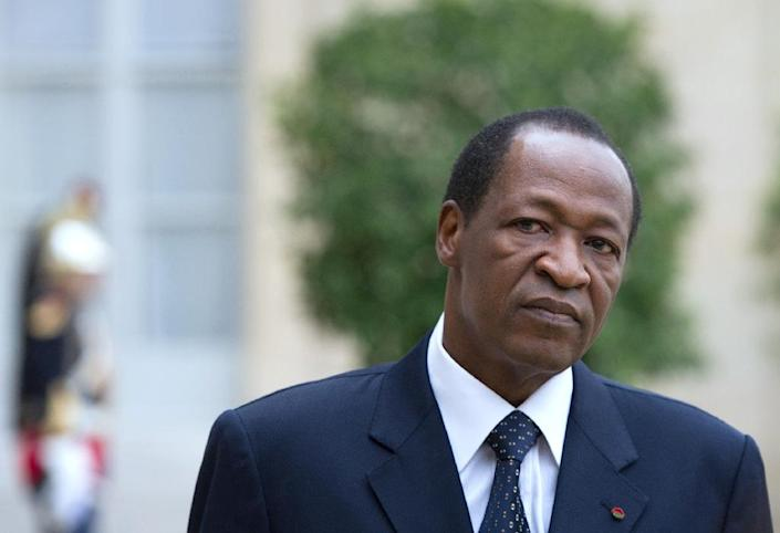 The elections were supposed to mark the end of the transitional government, installed after president Blaise Compaore (pictured) was toppled in a popular uprising in October 2014 after 27 years in power (AFP Photo/Bertrand Langlois)