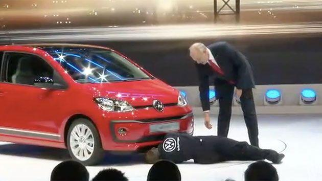 The VW executive fights back saying: 'The car doesn't need repairs it is in perfect condition'. Photo: WSJ