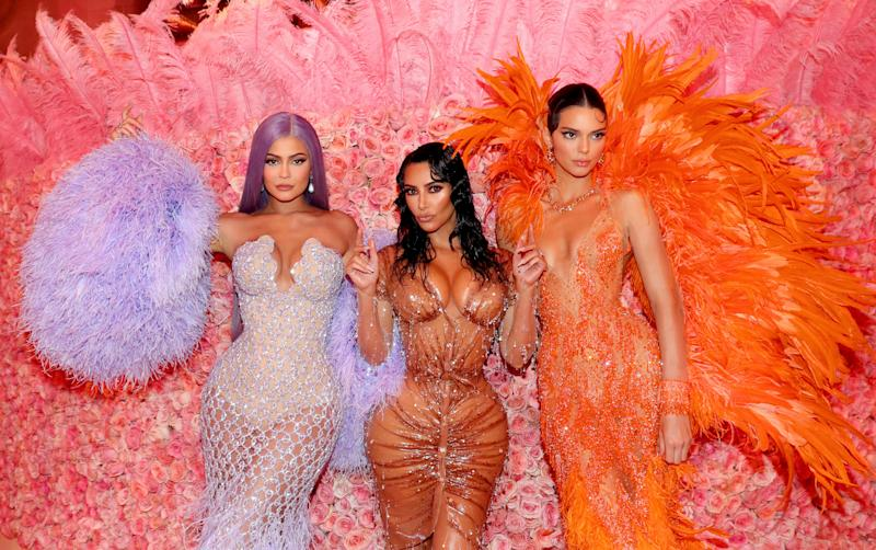 NEW YORK, NEW YORK - MAY 06: (EXCLUSIVE COVERAGE) Kylie Jenner, Kim Kardashian West, and Kendall Jenner attend The 2019 Met Gala Celebrating Camp: Notes on Fashion at Metropolitan Museum of Art on May 06, 2019 in New York City. (Photo by Kevin Tachman/MG19/Getty Images for The Met Museum/Vogue)