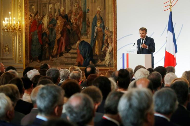 Macron delivers a speech to relaunch his diplomatic agenda after the summer break
