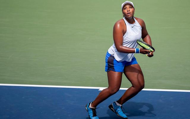 Taylor Townsend in action at the US Open - GETTY IMAGES