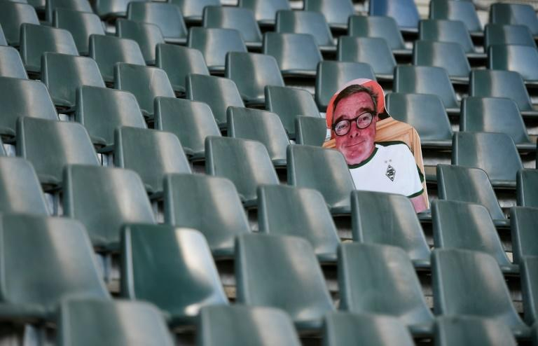 A Borussia Moenchegladbach fan project has printed out life-sized figures of fans to fill empty seats at Borussia Park