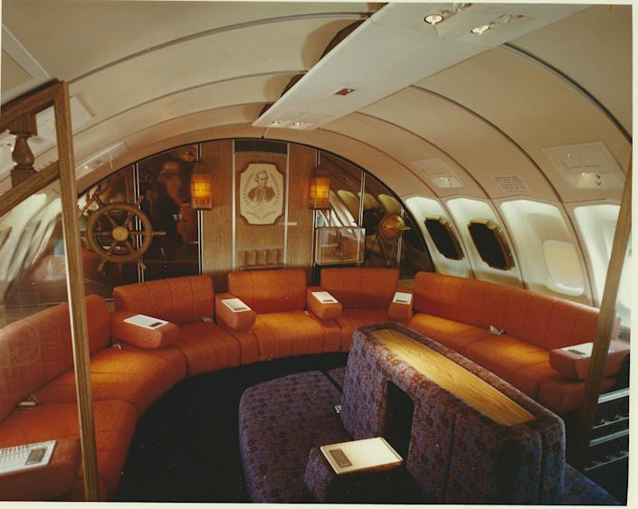 Qantas's Captain Cook Lounge for first-class passengers.