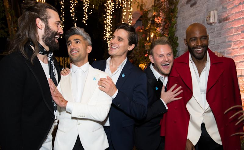 Jonathan Van Ness, Tan France, Antoni Porowski, Bobby Berk and Karamo Brown of