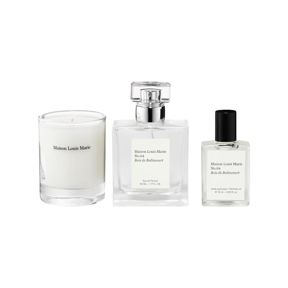 """Gift her a new signature scent with this subtle floral trio that looks and smells equally divine. $110, Sephora. <a href=""""https://www.sephora.com/product/no-04-bois-de-balincourt-votive-set-P451665?"""" rel=""""nofollow noopener"""" target=""""_blank"""" data-ylk=""""slk:Get it now!"""" class=""""link rapid-noclick-resp"""">Get it now!</a>"""
