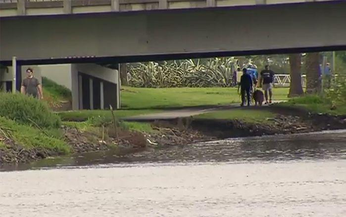 The Maribyrnong River where the incident happened. Image: 7News