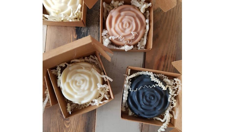 Handcrafted soap, Set of 12 soap bars. (Image via Etsy