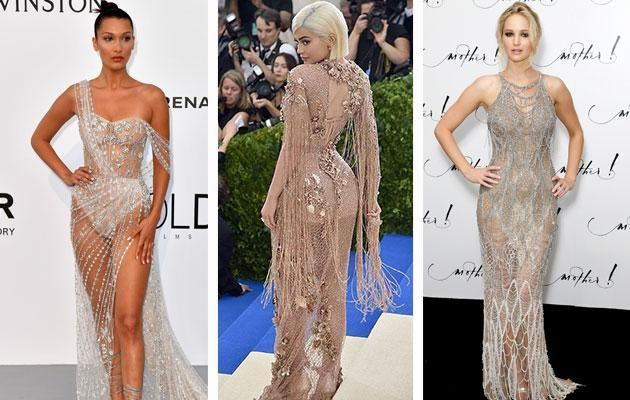 Naked dresses are all the rage at the moment. Photo: Getty