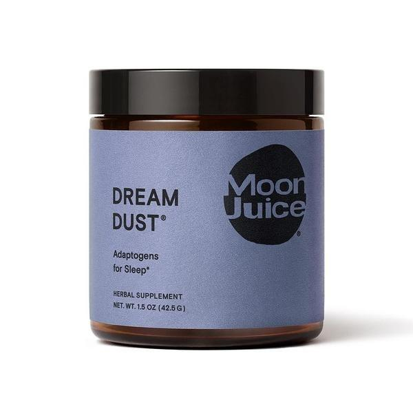 """<strong><h3>Moon Juice Dream Dust</h3></strong><br>Described as a soothing pre-bedtime potion that's specially alchemized to promote high-quality restorative sleep, this vegan blend of super-herbs can be mixed with your favorite nut milk for a sleep-supporting nightcap.<br><br><strong>Sleep Deal: 10% off your first order with email signup </strong><br><br><em>Shop </em><strong><em><a href=""""https://moonjuice.com/products/dream-dust"""" rel=""""nofollow noopener"""" target=""""_blank"""" data-ylk=""""slk:Moon Juice"""" class=""""link rapid-noclick-resp"""">Moon Juice</a></em></strong><br><br><strong>Moon Juice</strong> Dream Dust, $, available at <a href=""""https://go.skimresources.com/?id=30283X879131&url=https%3A%2F%2Fmoonjuice.com%2Fproducts%2Fdream-dust"""" rel=""""nofollow noopener"""" target=""""_blank"""" data-ylk=""""slk:Moon Juice"""" class=""""link rapid-noclick-resp"""">Moon Juice</a>"""