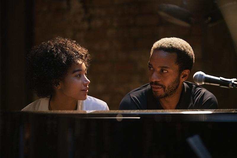André Holland as Elliot and Amandla Stenberg as Julie