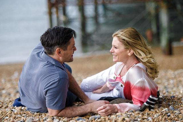 Michael Landes and Emilia Fox