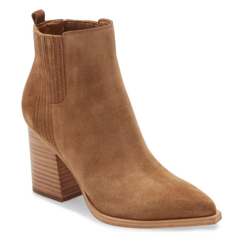 Marc Fisher Oshay Pointed Toe Bootie. Image via Nordstrom.