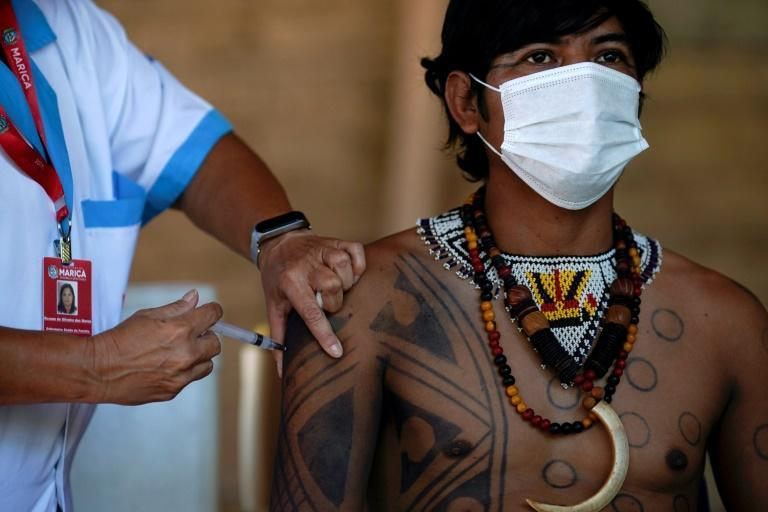 Brazil has started its vaccination drive with those identified as a priority -- health workers, the elderly and indigenous people