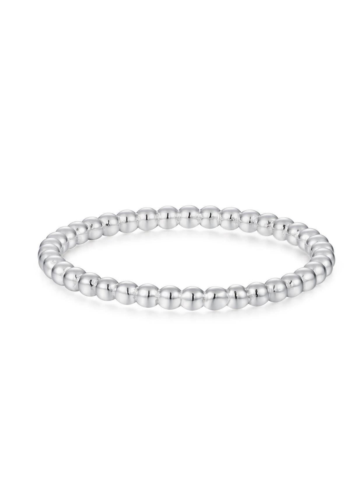 "Get the <a href=""https://shoppoirier.com/collections/rings/products/silver-beaded-band"" rel=""nofollow noopener"" target=""_blank"" data-ylk=""slk:Poirier silver beaded band, available in sizes 7-13, for $42"" class=""link rapid-noclick-resp"">Poirier silver beaded band, available in sizes 7-13, for $42</a>"