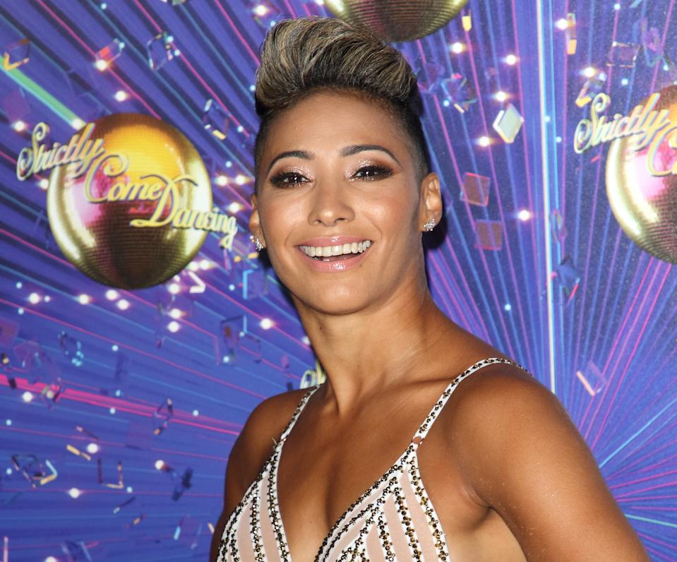 Karen Hauer at the Strictly Come Dancing 2019 Launch at BBC Broadcasting House. (Photo by Keith Mayhew/SOPA Images/LightRocket via Getty Images)