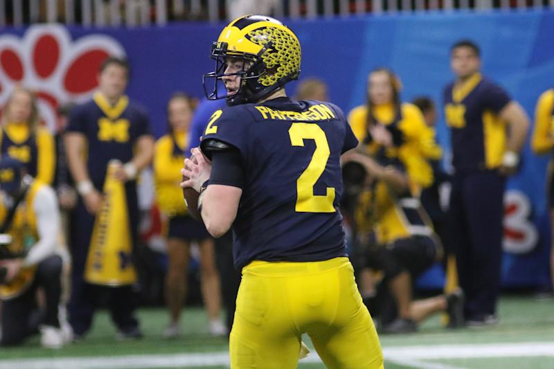 Michigan QB Shea Patterson made the Senior Bowl's 2020 watch list but must play better for the Wolverines. (Getty Images)