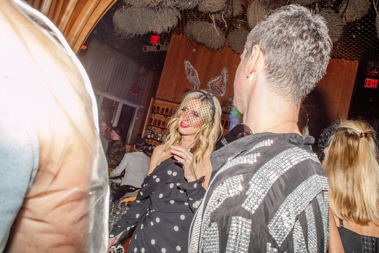 Nicky Hilton attends the Halloween at the Top party hosted by The Standard Hotel at the Top of the Standard in New York City on October 26, 2019. Photograph by Maridelis Morales Rosado for W Magazine.