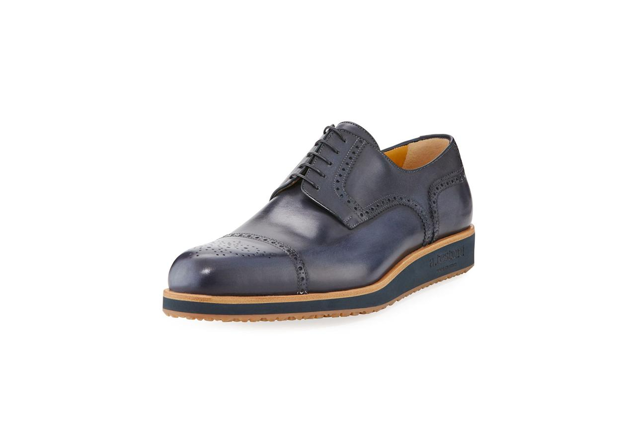 "<p>$845, buy now at <a rel=""nofollow"" href=""http://www.neimanmarcus.com/atestoni-BROGUE-LACE-UP-LUG-SOLE/prod199790087/p.prod?ecid=NMAF__ShopStyle%20%28POPSUGAR&mbid=synd_yahoostyle"">neimanmarcus.com</a>)</p><p><a rel=""nofollow"" href=""http://www.gq.com/gallery/stylish-alternatives-square-toe-shoes?mbid=synd_yahoostyle"">RELATED: 15 Stylish Alternatives to Bad Square-Toe Shoes That You Can Buy Now</a></p>"