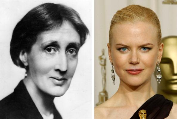 (FILE PHOTO) In this composite image a comparison has been made between Virginia Woolf and actress Nicole Kidman. Oscar hype continues this week with the announcement of the nominations for the 84th Academy Awards. Luise Rainer became the first actress to receive an Academy Award for her role in the 1936 biopic 'The Great Ziegfeld,' playing stage performer Anna Held. Over half of the last ten Oscars for best actor or actress have been for performances in a biopic.  ***LEFT IMAGE***1930:  English novelist, critic and essayist Virginia Woolf (1882 - 1941) poses in 1930. Woolf was born in London and regarded as one of the great modern innovators of the novel.   (Photo by Hulton Archive/Getty Images)***RIGHT IMAGE***HOLLYWOOD - MARCH 23: Winner for Best Actress for 'The Hours,' Nicole Kidman poses during the 75th Annual Academy Awards at the Kodak Theater on March 23, 2003 in Hollywood, California. (Photo by Frank Micelotta/Getty Images)