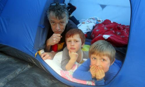 The cheapest, greenest holiday ever: the weird joy of garden camping with the kids