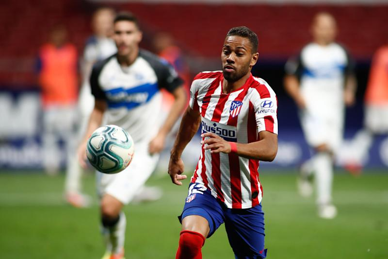 MADRID, SPAIN - JUNE 27: Renan Lodi of Atletico Madrid in action during the spanish league, LaLiga, football match played between Atletico de Madrid and Deportivo Alaves at Wanda Metropolitano Stadium on June 27, 2020 in Madrid, Spain. (Photo by Oscar J. Barroso / AFP7 / Europa Press Sports via Getty Images)