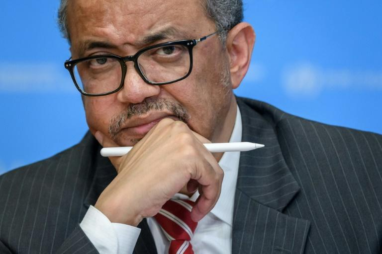 "WHO chief Tedros Adhanom Ghebreyesus warned the virus ""pays no heed to political rhetoric or conspiracy theories"""