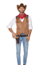 """<p>spirithalloween.com</p><p><strong>$29.99</strong></p><p><a href=""""https://go.redirectingat.com?id=74968X1596630&url=https%3A%2F%2Fwww.spirithalloween.com%2Fproduct%2Fadult-western-cowboy-plus-size-costume-kit%2F217639.uts%3FExtid%3Dsf_froogle&sref=https%3A%2F%2Fwww.menshealth.com%2Fstyle%2Fg37180557%2Fpop-culture-halloween-costumes-for-men-2021%2F"""" rel=""""nofollow noopener"""" target=""""_blank"""" data-ylk=""""slk:Shop Now"""" class=""""link rapid-noclick-resp"""">Shop Now</a></p><p>Dress like a wrangler on the Dutton Yellowstone ranch. </p>"""