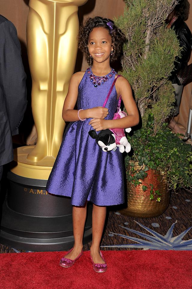 Quvenzhane Wallis attends the 85th Academy Awards Nominations Luncheon at The Beverly Hilton Hotel on February 4, 2013 in Beverly Hills, California.  (Photo by Steve Granitz/WireImage)