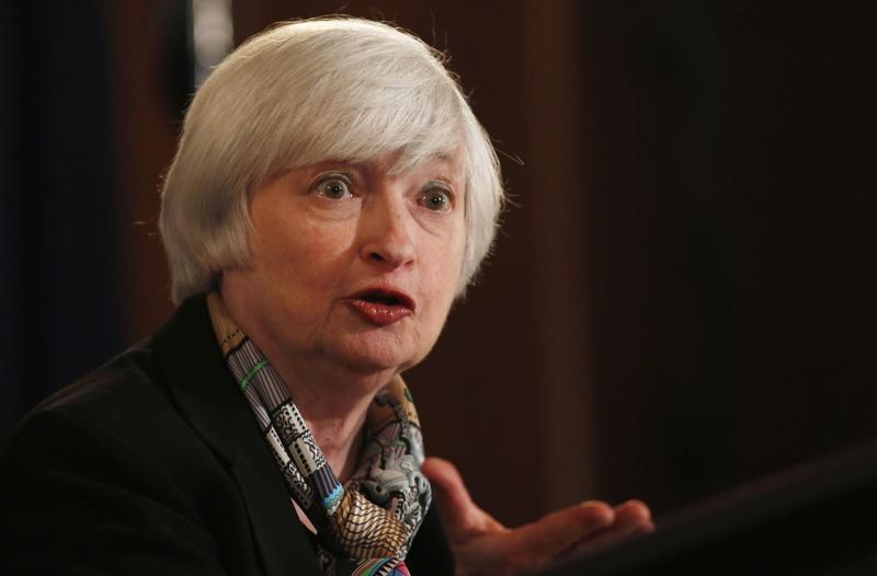 Federal Reserve Chair Janet Yellen answers a question at a news conference in Washington