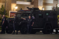 <p>ORANGE, CA - MARCH 31: Four people, including a child, were killed Wednesday evening and a fifth person was injured in a mass shooting at an Orange office complex.on Wednesday, March 31, 2021 in Orange, CA. (Francine Orr / Los Angeles Times</p>