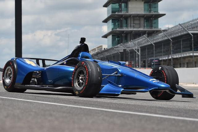 The 2018 IndyCar race car features a more streamlined design and added safety features, but rides on the same chassis as the previous version, and uses the same Chevy and Honda engines.