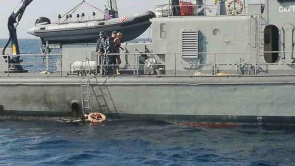 A British woman was rescued off the coast of Croatia on Sunday, Aug. 19, 2018, after she fell off a cruise ship. (Reuters)