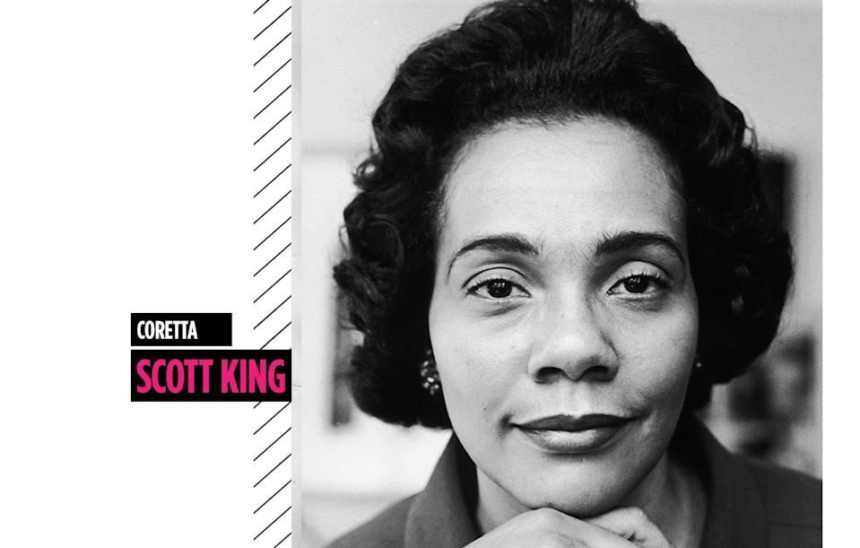 <p>A classic beauty, Coretta Scott King captivated with her grace and understated charm. (Photo: Getty Images) </p>